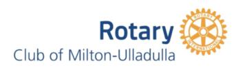 Rotary Club of Milton-Ulladulla Logo