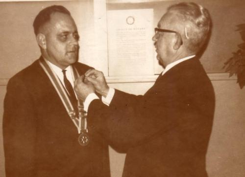 1966-67 Jim Thomson's investiture by outgoing President Harry Thorne