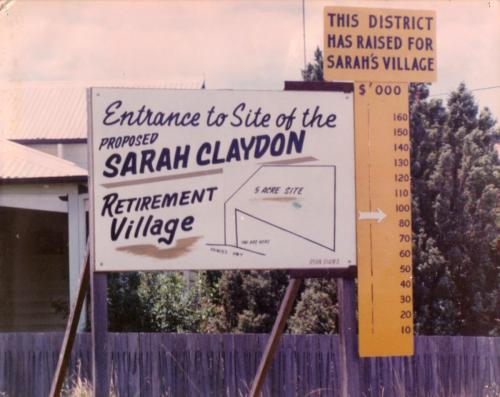 1979-80 Sarah Claydon retirement project, supported by the Rotary Club