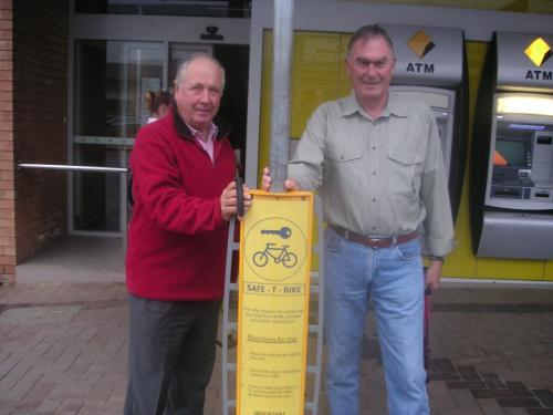 2010-03 Rotary Club Bike Club Stand, Dale Wilford and Jeff Franklin