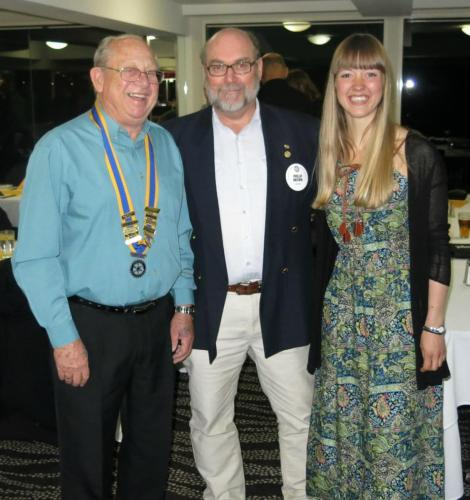 2015-07-14 Clive Cross, Phil Brown, Past Youth Exchange Student Karen Louise Clausen