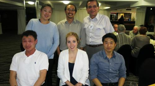 2015-07-28 Dr Alison Im, Dr Jason Tan,  Dr Issa Shalhoub, Dr Howard Lee, Julia Brockhaus (New Generations Service Student Exchange, with dentists she observed while in Australia), Dr Yo Han Choi