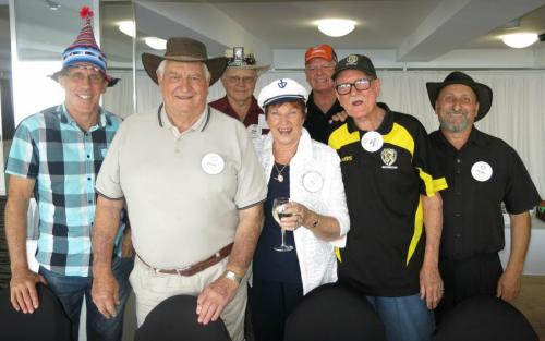 2015-10-06 HatDay, Glenn Rowen, Brian Wilkins, Robin Cantrill, Jenny Cantrill, Cliff Workman, Bill Harris, Terry Marchello